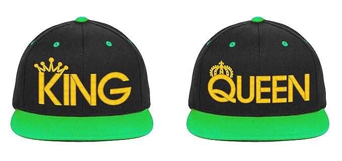 aa07cfb8def King Queen-2 Snapback-Black-Green Brim