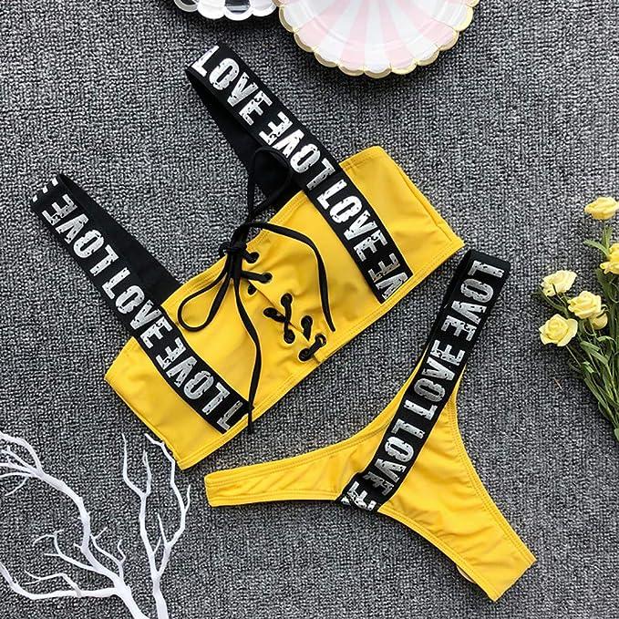 Amazon.com: OrchidAmor Women Bikini Set Swimwear Push-Up ...