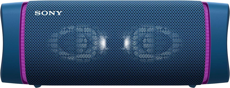 Sony SRS-XB33 - Altavoz Bluetooth Potente, con Luces, Extra Bass, Resistente al Agua, Polvo, óxido, Golpes y Larga duración de batería de hasta 24h