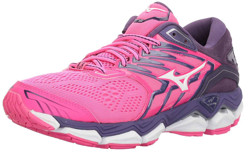 Mizuno Women's Pink Wave Horizon 2 Running Shoes, Pink Women's Glo/White B07192ZHJT Road Running 6c23af