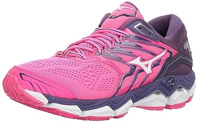 brand new 63885 b39da Mizuno Women s Wave Horizon 2 Running Shoe, Pink glo White, 6 B US