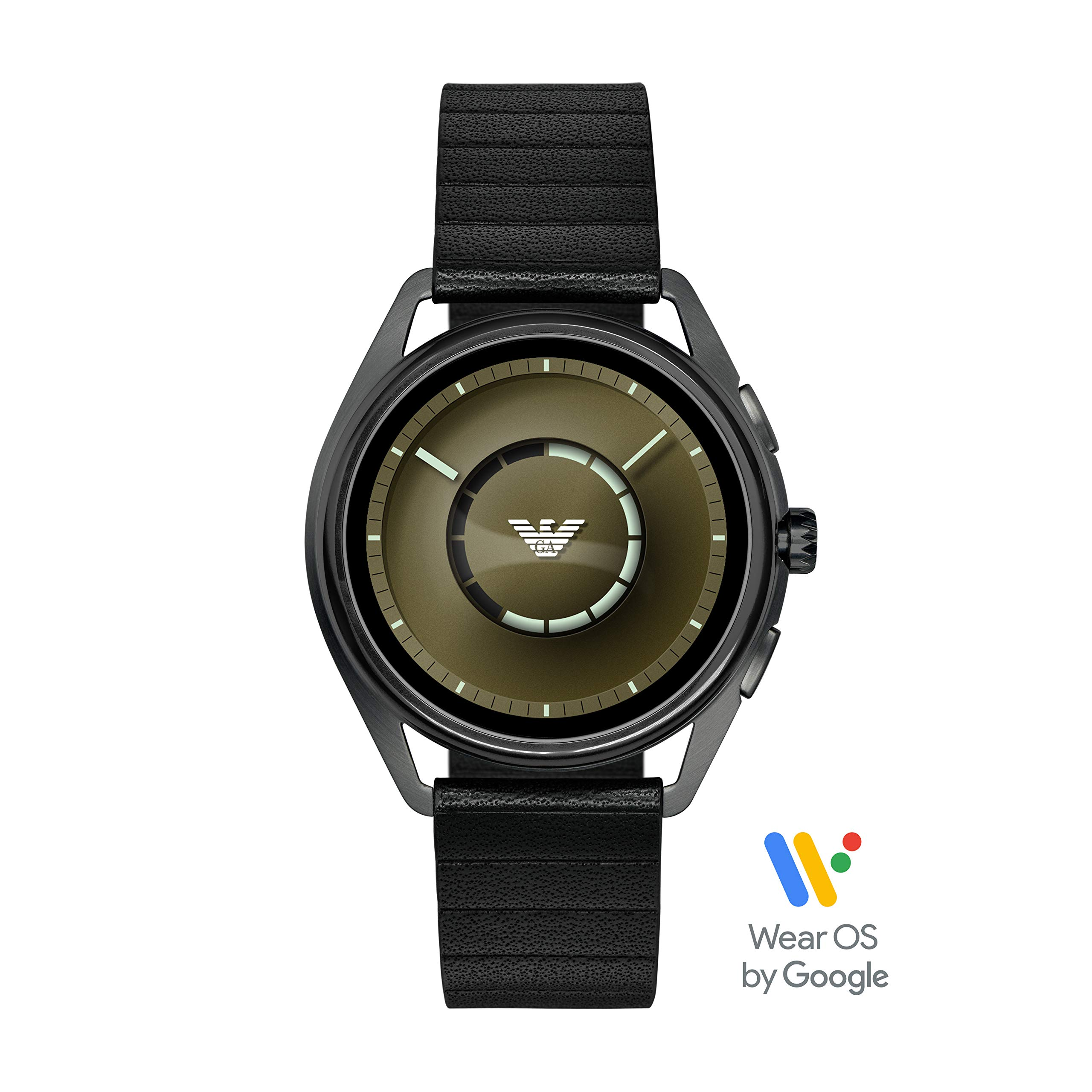 Emporio Armani Men's Stainless Steel Plated Touchscreen Smartwatch, Color: Gunmetal (Model: ART5009) by Emporio Armani