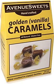 product image for AvenueSweets - Handcrafted Individually Wrapped Soft Caramels - 8 oz Box - Vanilla