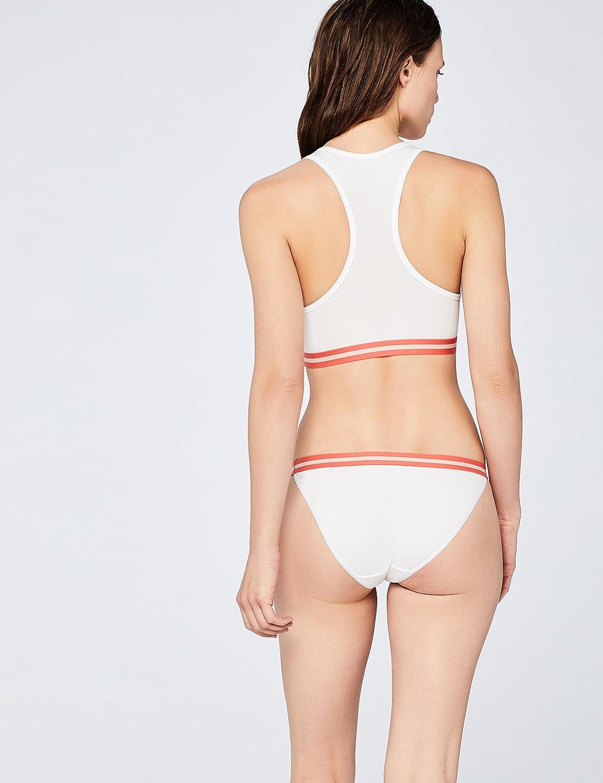 2er-Pack Iris /& Lillly Damen sportlich geschnittenes Top mit Racerback aus Baumwolle Marke