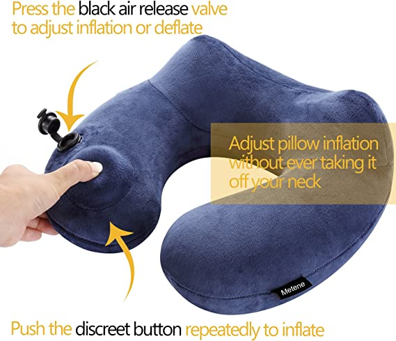 Metene Inflatable Travel Pillow Soft