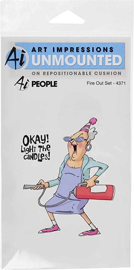 Art Impressions People Cling Rubber Stamps Skinny Yet 7 x 4