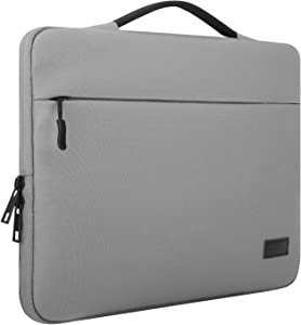 """MoKo 15.6 Inch Laptop Sleeve Case Fits 2019 MacBook Pro 16 inch, MacBook Pro 15.4"""", Surface Book 15 inch, Ultrabook Notebook Carrying Bag for 15.6"""" Dell Lenovo HP Asus Acer Samsung Chromebook - Gray"""