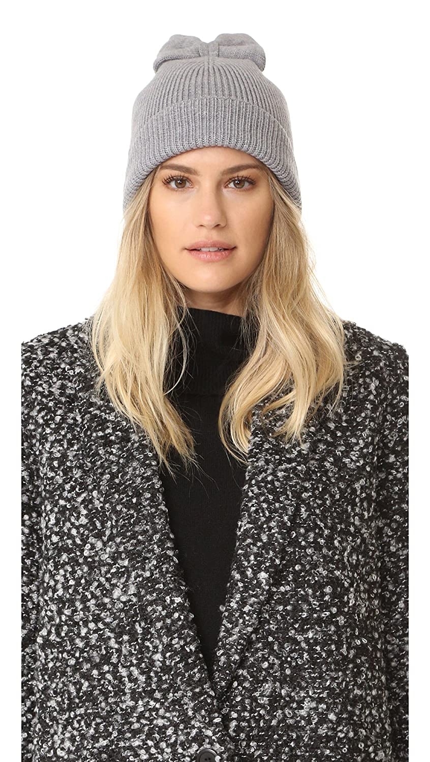 5bcc710358d Amazon.com  Kate Spade New York Women s Solid Bow Beanie Heather Gray   Clothing