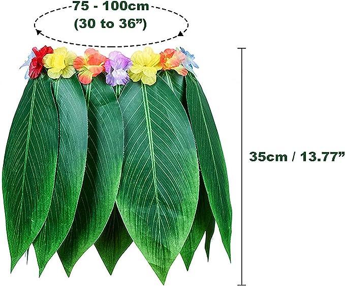 Set 3 Piezas Faldas Hawaianas de Hoja - Falda Hojas Verdes con ...
