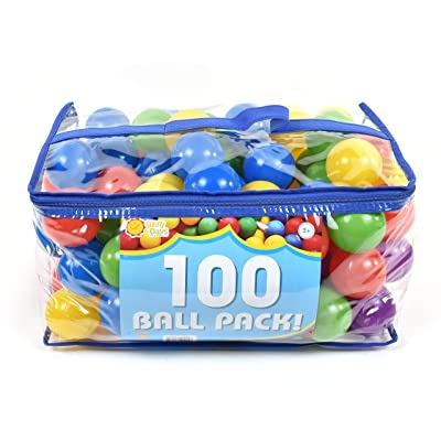 Sunny Days Entertainment 100 Count Ball Pit Refills, Phthalate & Bpa Free, Crushproof Plastic in Assorted Colors, Multi: Toys & Games