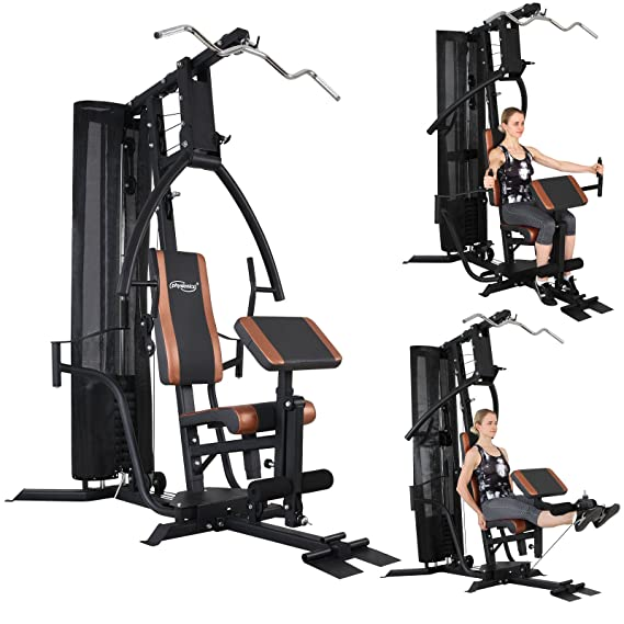 Physionics - Maquina de fitness multifunción - jalón al pecho, butterfly, press de banca, remo a dos manos, curl de piernas y mucho más: Amazon.es: Deportes ...