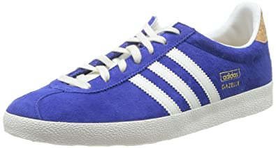 adidas Originals Gazelle OG, Chaussons Sneaker Femme - Bleu (Bold Blue/Off White