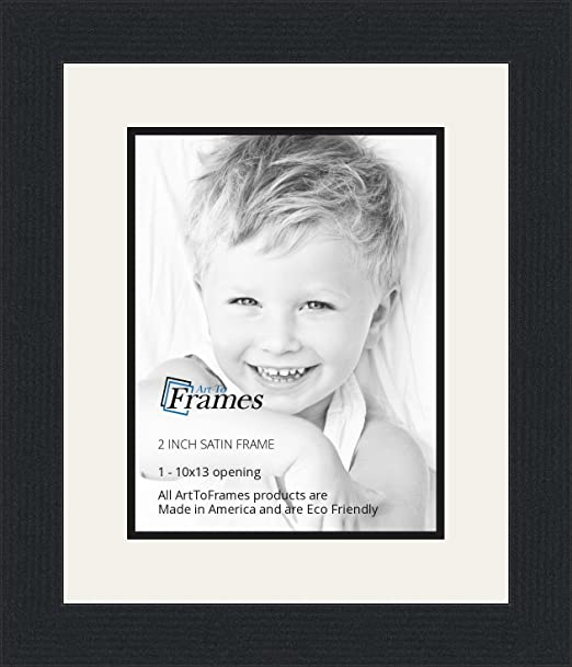Amazon.com - 10x13 / 10 x 13 Picture Frame Satin Black .. 2\'\' wide ...