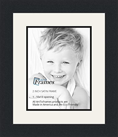 Amazoncom 10x13 10 X 13 Picture Frame Satin Black 2 Wide With