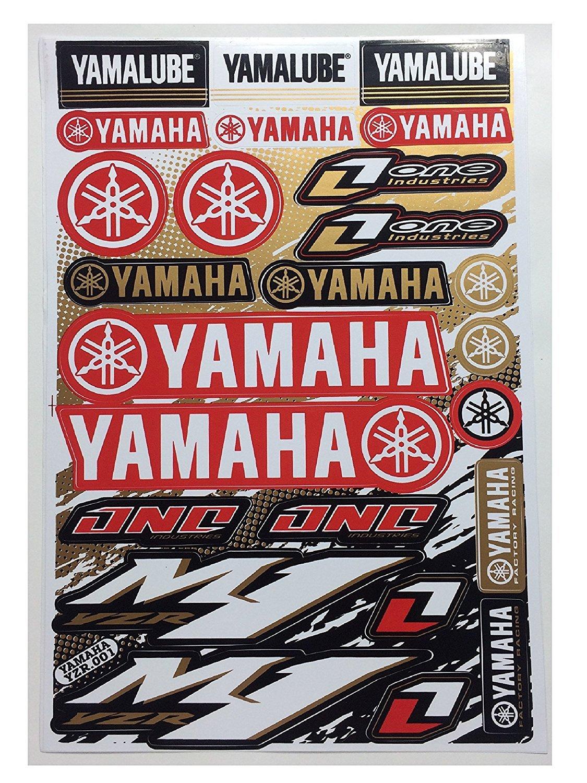 Sticker yamaha factory yamalube racing helmet f1 logo sponsor motocross bike atv sticker decal35 decals bumper stickers amazon canada