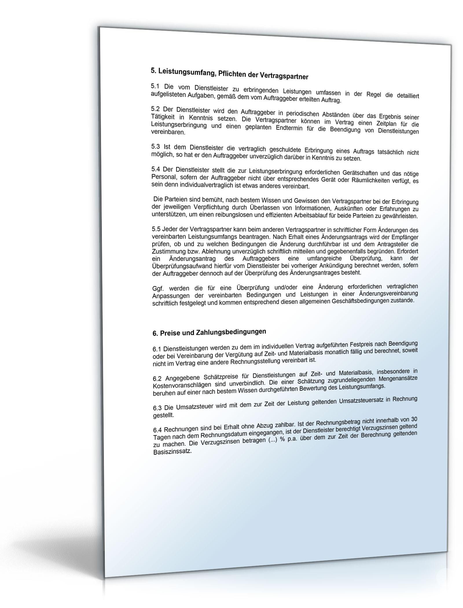 AGB Dienstleistungen [Word Dokument]: Amazon.de: Software