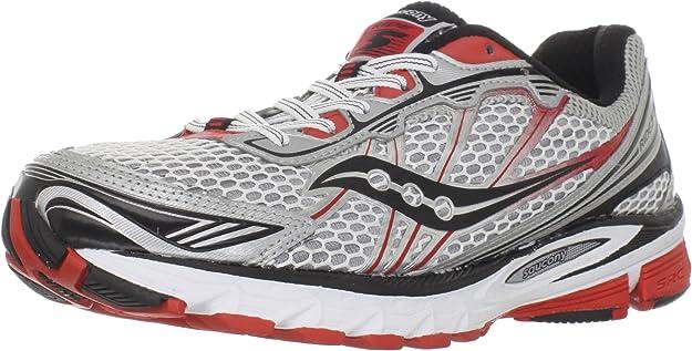 Saucony - Zapatillas de Running de genérico para Hombre Weiãÿ/Silber/Rot: Amazon.es: Zapatos y complementos