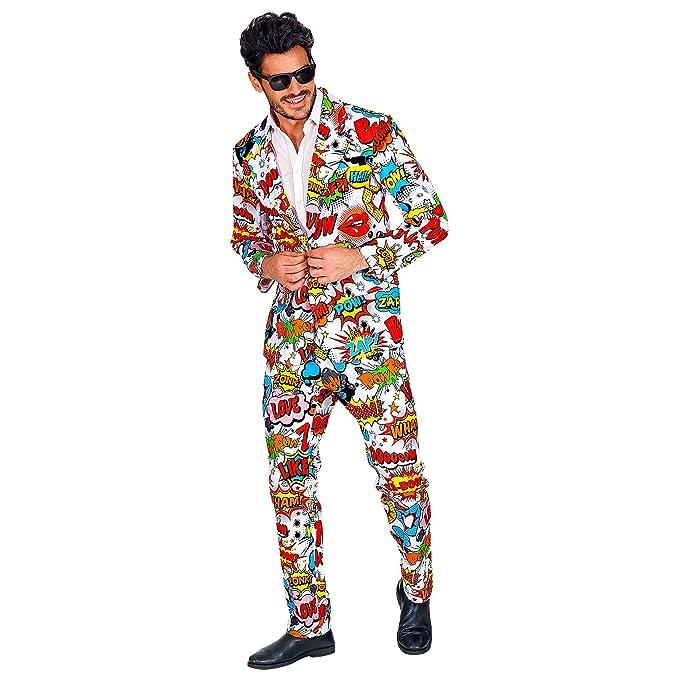WIDMANN 09353 - Disfraz pop art para hombre, varios colores, talla ...