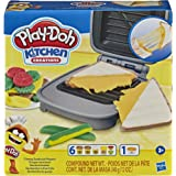 Play-Doh Kitchen Creations - Cheesy sandwich play food set - Incl Playdoh Elastix Compound & 6 dough compounds - sensory…