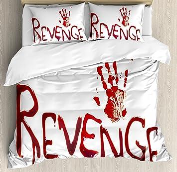Horror Bettbezug Set By Ambesonne Geburtsurkundenhalterung Revenge