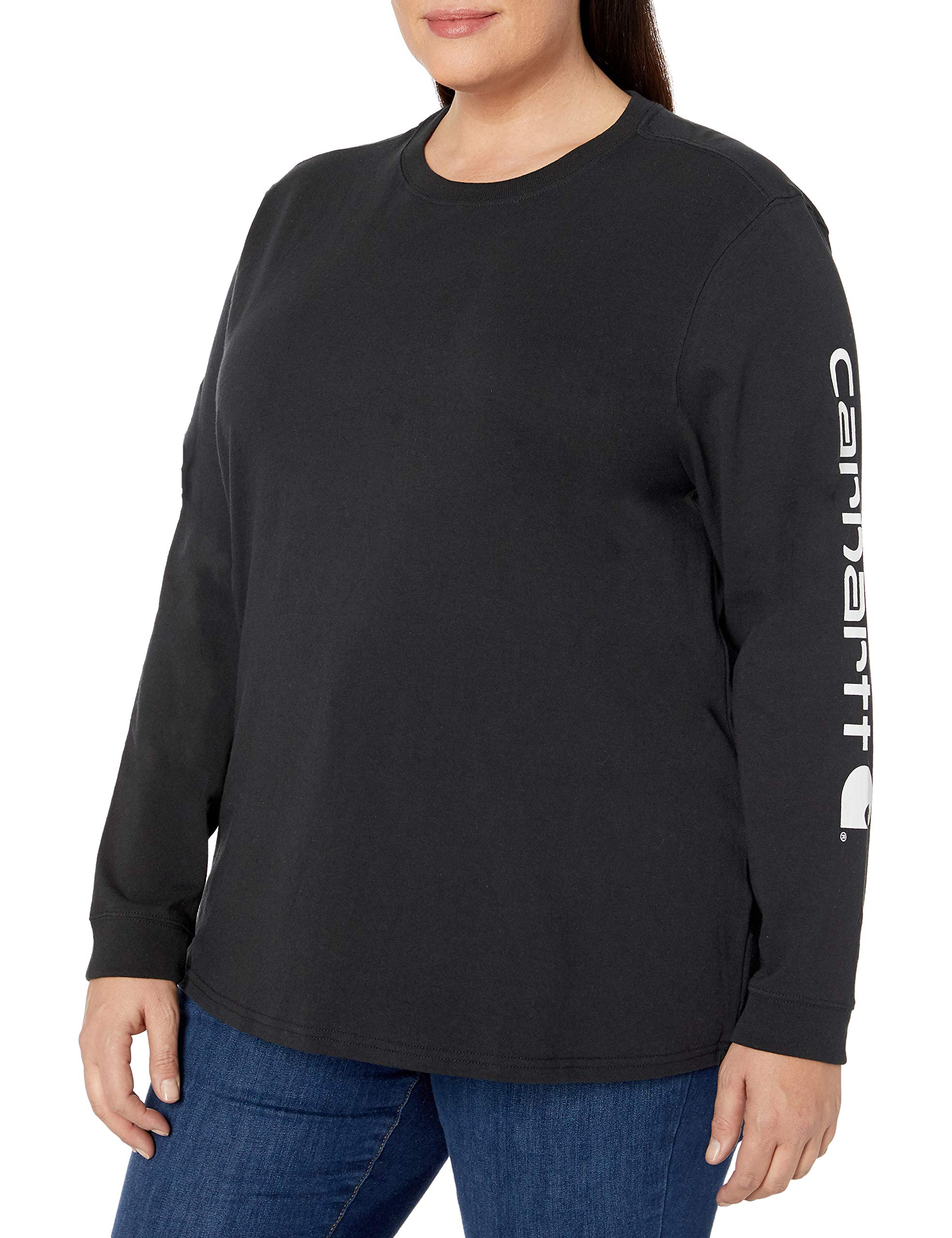 Carhartt Women's K231 Workwear Logo Long Sleeve T-Shirt (Regular and Plus Sizes)