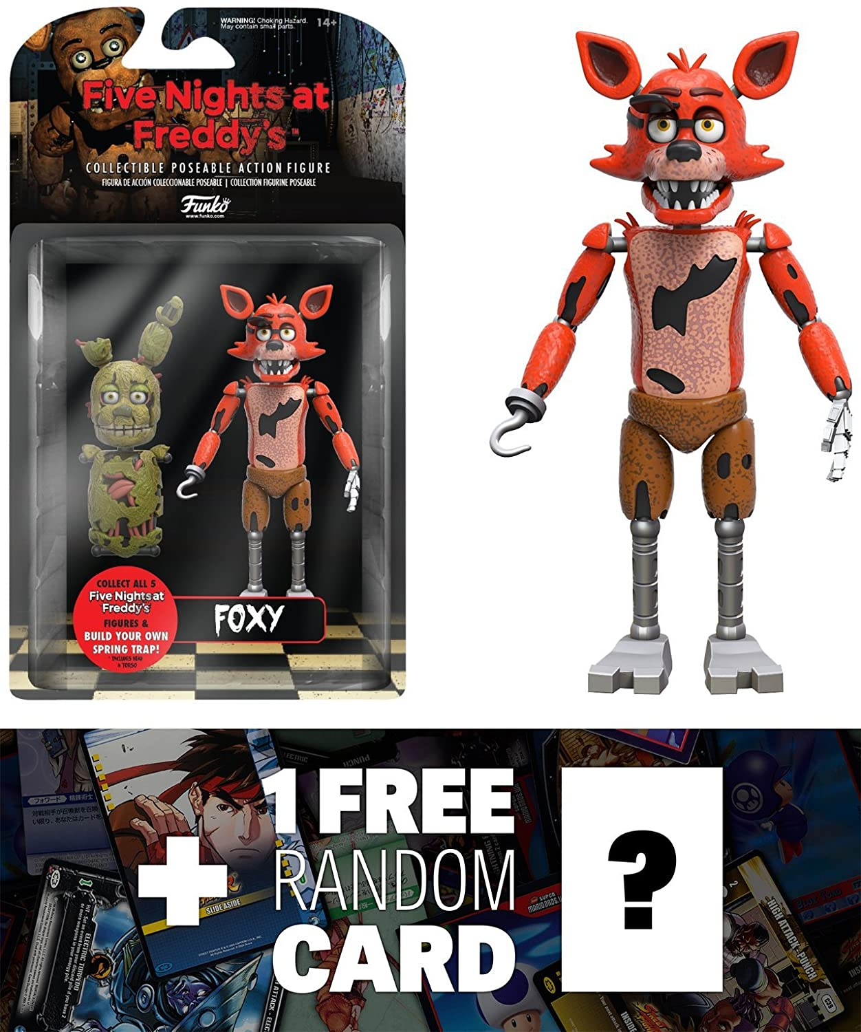 Foxy: Funko x Five Nights at Freddy's Action Figure + 1 FREE Video Games  Themed Trading Card Bundle (088484)