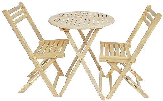 amazon com zen garden zg012 wood foldable 3 piece round bistro set