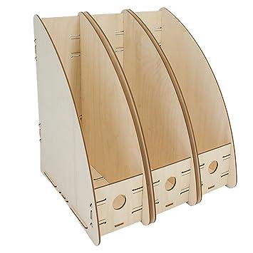 : 25,3 x 35,0 x 7,0 cm Briefablage Ablagekorb myORGA no.2 Ablage aus Holz stapelbar bxtxh 3er Set MADE IN GERMANY Ablagefach Format