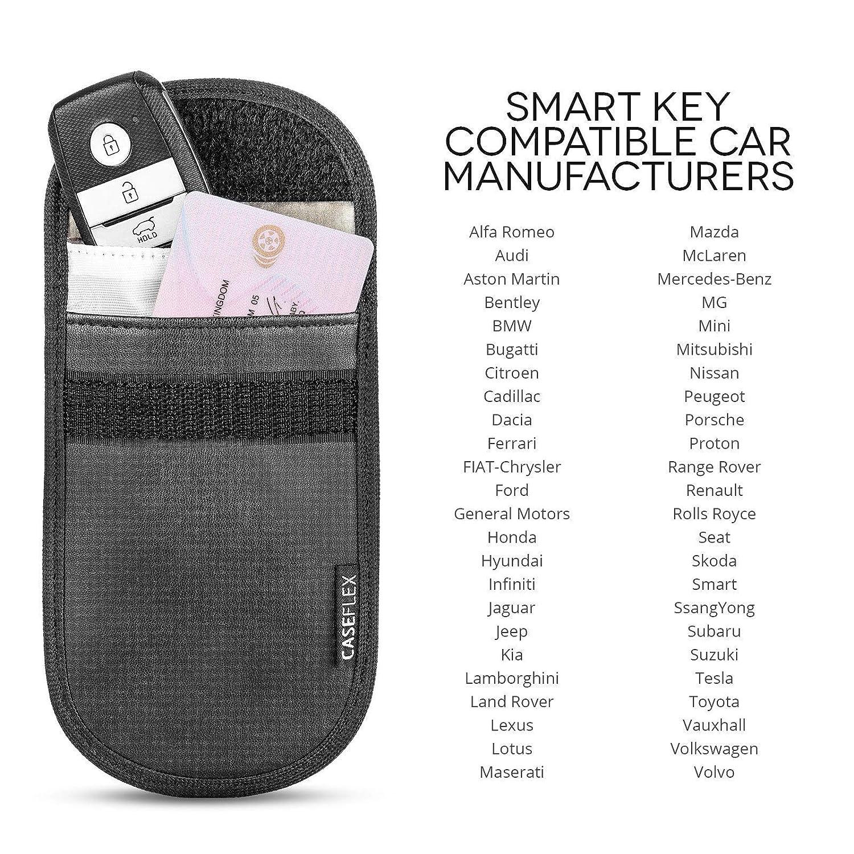 MOFRED 2 X Car Key Signal Blocker Case, Faraday Bag for Car Keys Keyless Entry Fob Guard Signal Blocking Pouch Bag, WIFI/NFC Blocker