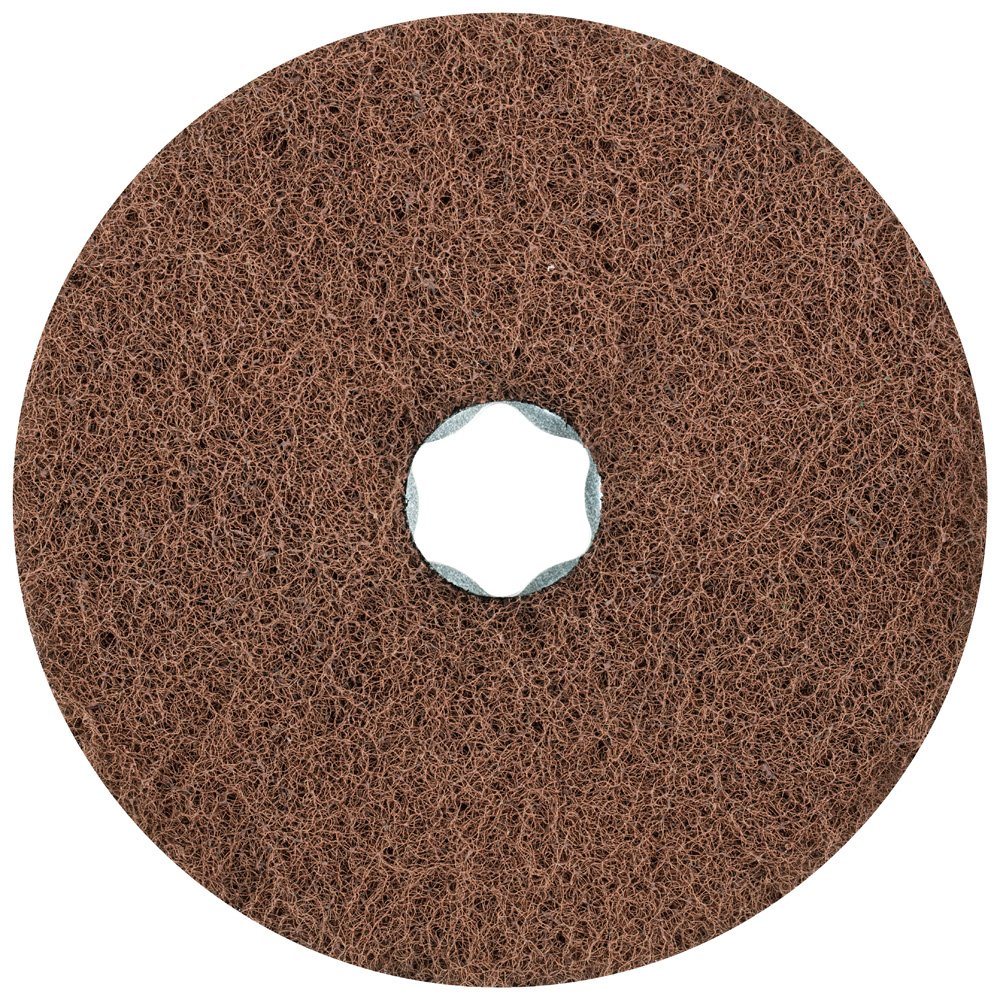 PFERD 48133 Combiclick Non-Woven Disc, Soft Type, 4-1/2'' Diameter, 10,500 RPM, Very Fine Grit (Pack of 10)