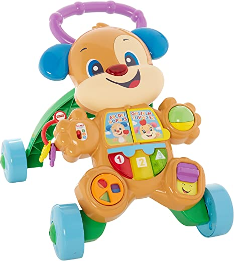 Fisher-Price FRC84 Cagnolino Primi Passi Spingibile, Giocattolo Elettronico Educativo con...