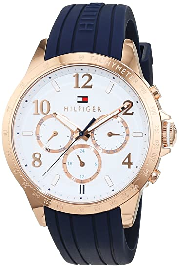 Amazon.com: Tommy Hilfiger Womens 1781645 Dani Analog Display Japanese Quartz Blue Watch: Tommy Hilfiger: Watches