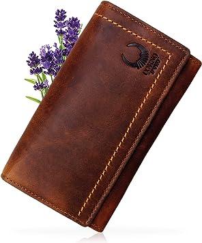 Damen Herren Groß Geldbeutel Leder XL Geldbörse RFID Portemonnaie Portmonee 2080