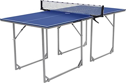 Kettler Junior Mid Sized Collapsible Table Tennis Table, Blue Top