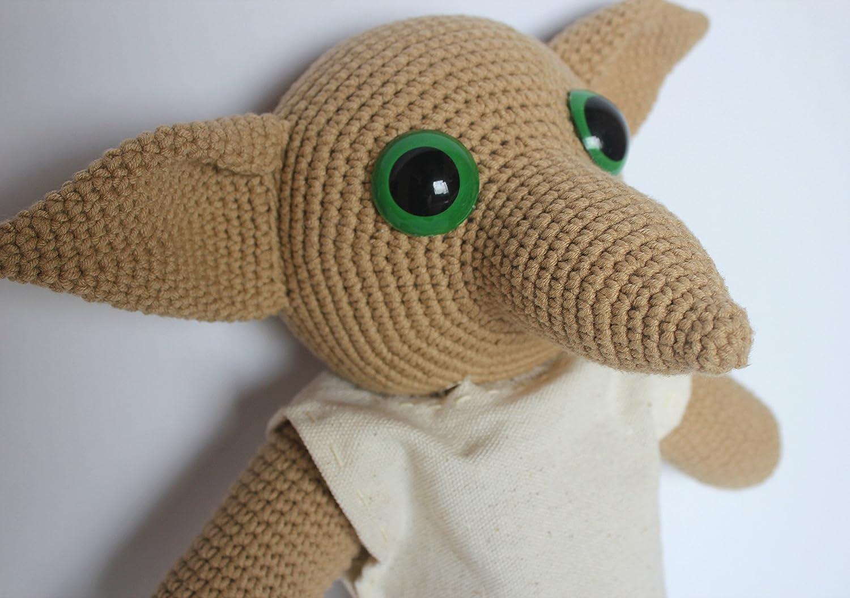 Dobby, Handmade Crochet Dobby Plushie Doll, Amigurumi doll, Harry Porter Dobby doll, toddle gift, baby shower gift, Harry Potter Nursery Decor