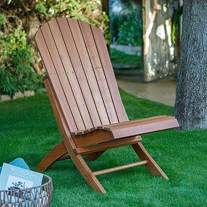Fabulous Amazon Com Outdoor Patio Armless Hardwood Adirondack Chair Gamerscity Chair Design For Home Gamerscityorg