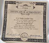 "Thomas Kinkade Cherished Yuletide Memories ""MOONLIT SLEIGH RIDE "" 1993 Collectors Plate"