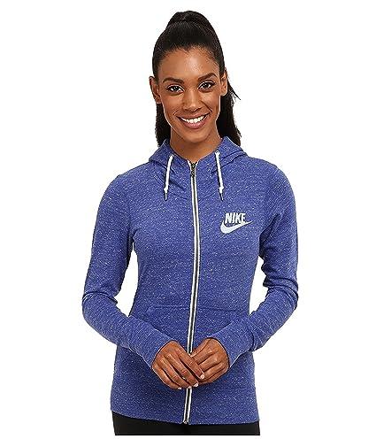 63b172beed07 Amazon.com  Nike Women Gym Vintage Full Zip Hoodie (Large