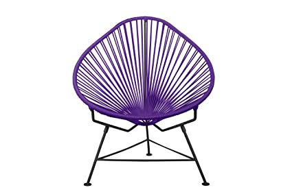 Charmant Innit Designs Baby Acapulco Chair, Purple Weave On Black Frame