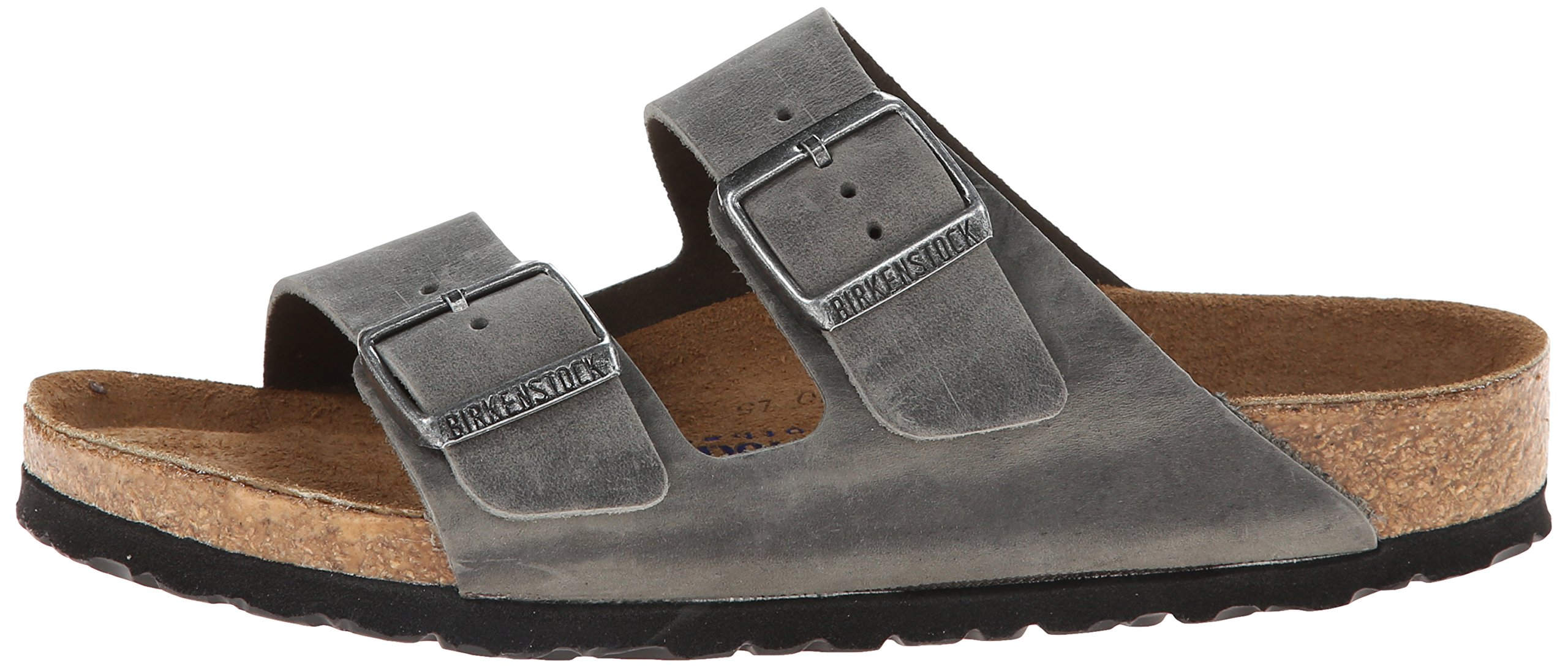 Birkenstock Unisex Arizona Iron Oiled Leather Sandals - 45 M EU/12-12.5 B(M) US Men by Birkenstock (Image #5)