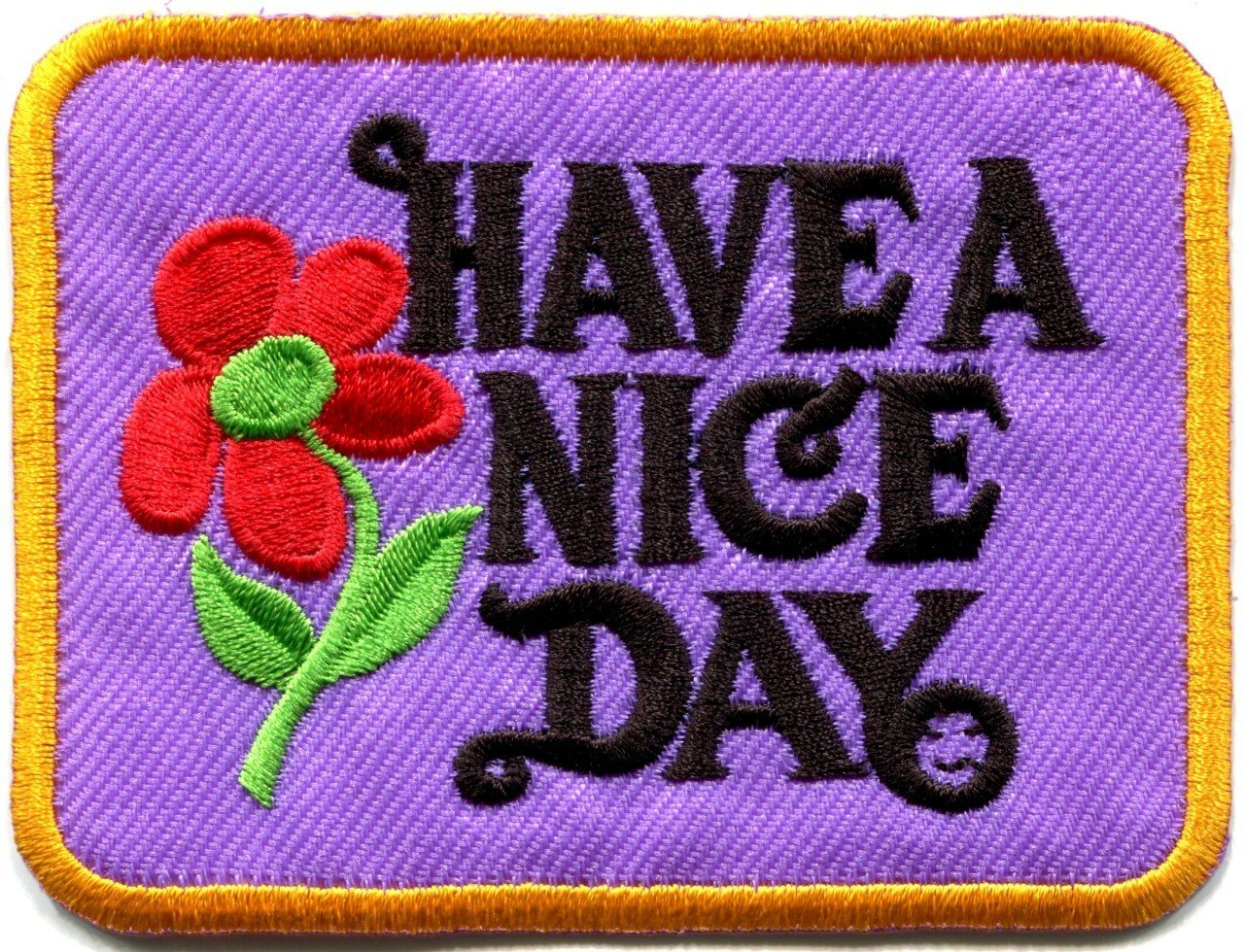 Have a Nice Day Hippie Applique Iron-on Patch S-119 Handmade Design From Thailand by BESTBEST   B00BK45IGQ