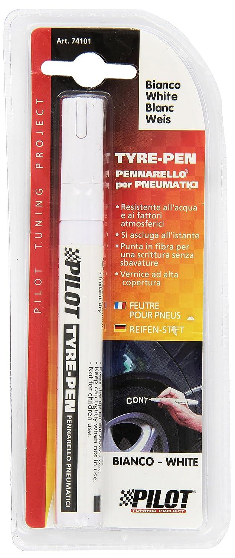 74101 - Pennarello per pneumatici Tyre penna vernice - Bianco ad alta resistenza istante secco metallo pennarello akhan-tuning