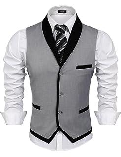 Coofandy Gilet Uomo Senza Maniche Casual Elegante Slim Fit Taglie S-XXL d1f5d363b00