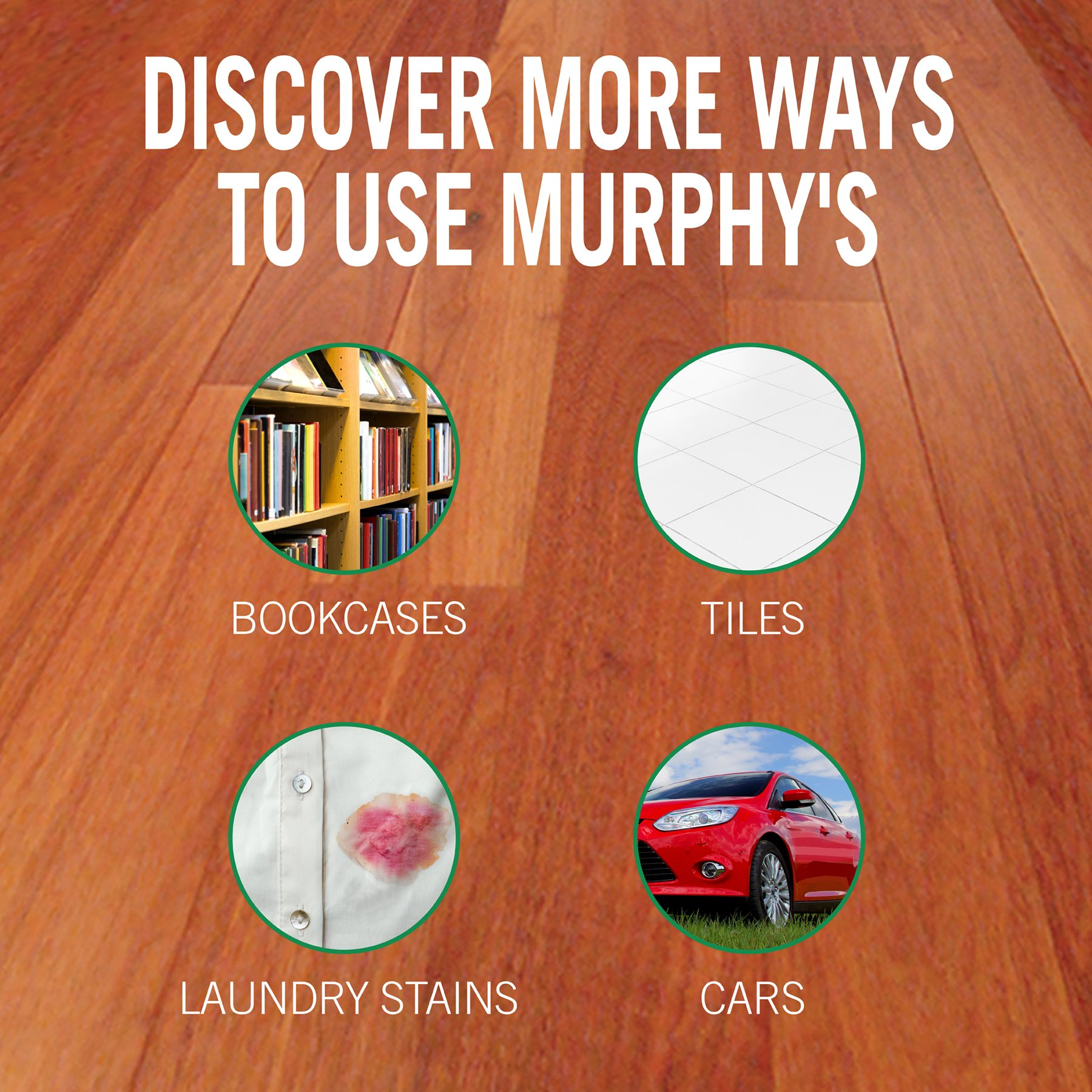 MURPHY OIL SOAP Wood Cleaner, Original, Concentrated Formula, Floor Cleaner, Multi-Use Wood Cleaner, Finished Surface Cleaner, 128 Fluid Ounce (US05480A) by Murphy Oil (Image #7)