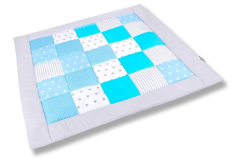 Amilian® Krabbeldecke Patchworkdecke Spieldecke Decke (M050) (105x105cm)