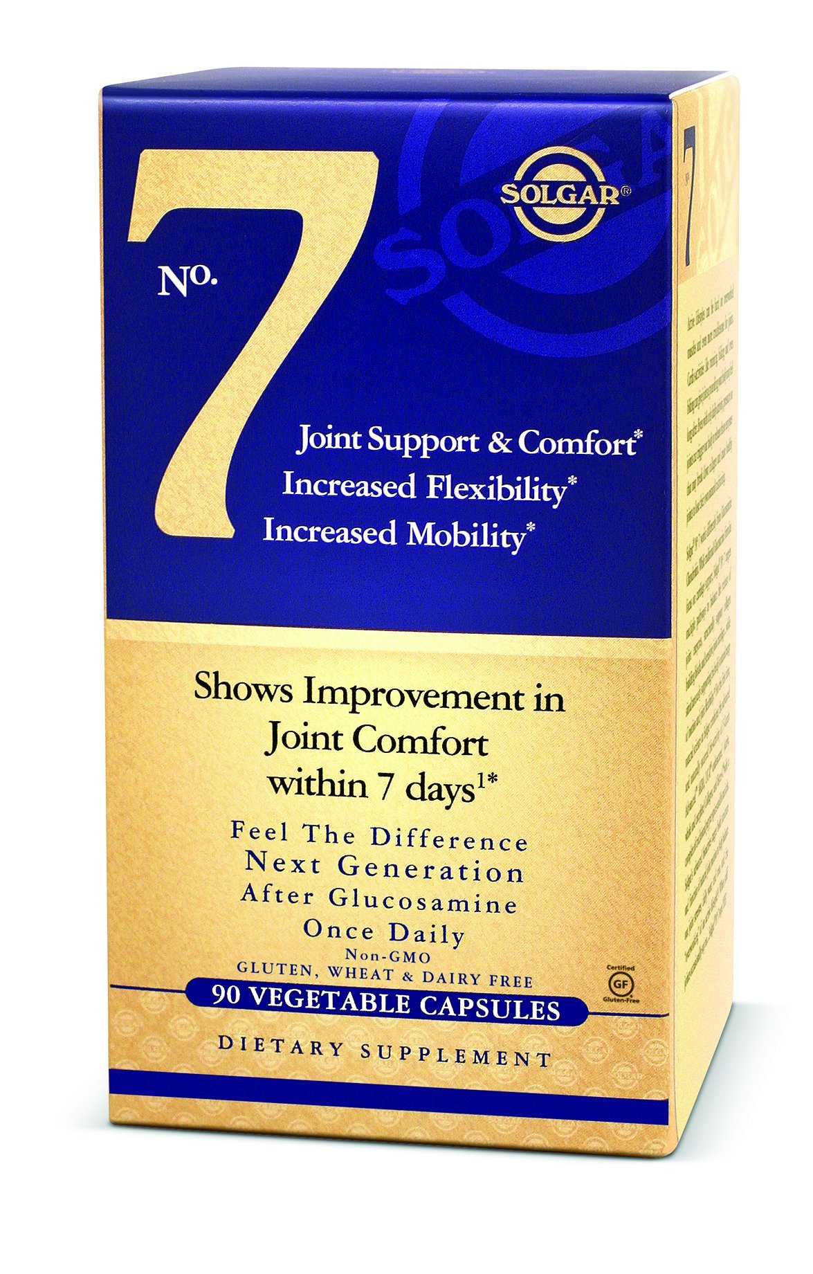 Solgar No. 7, Joint Support & Comfort, Increased Flexibility, Increased Mobility, Non-GMO, 90 Vegetable Capsules by Solgar