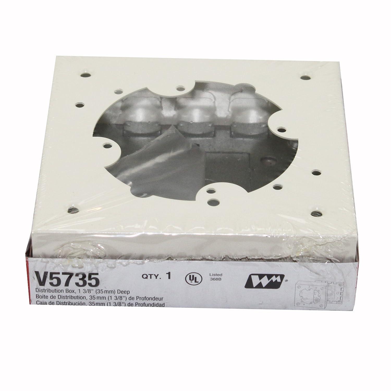 500//700 SERIES WIREMOLD LEGRAND V5735 STEEL DISTRIBUTION BOX IVORY WRM V5735