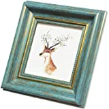 4x4 Photo Frame Blue Picture Frame Desktop Display Mount on The Wall.Plexiglass Panel (not Glass).Tips: Please Peel Off…