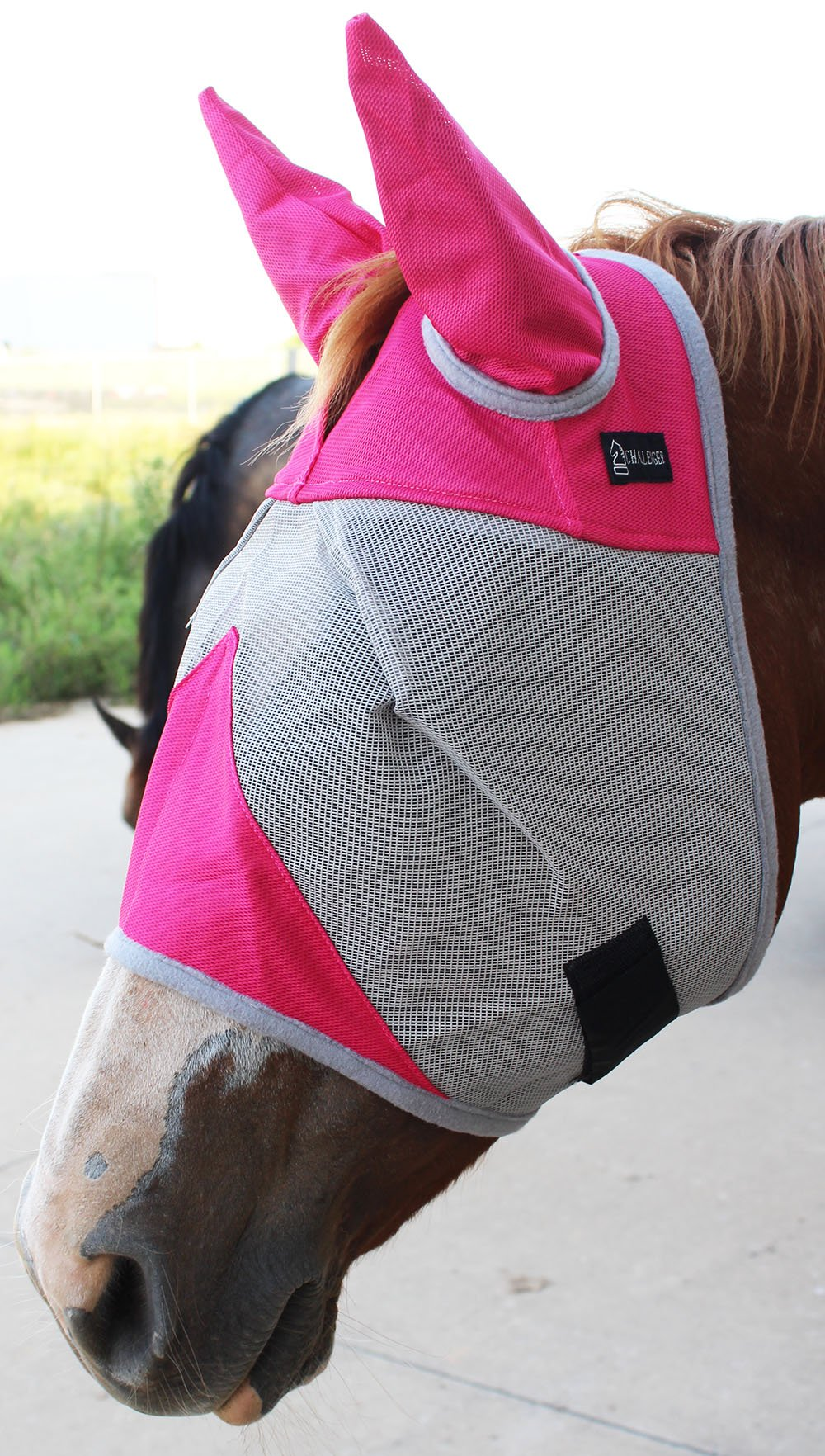 CHALLENGER Equine Horse Fly Mask Summer Spring Airflow Mesh UV Mosquitoes 73281 by CHALLENGER