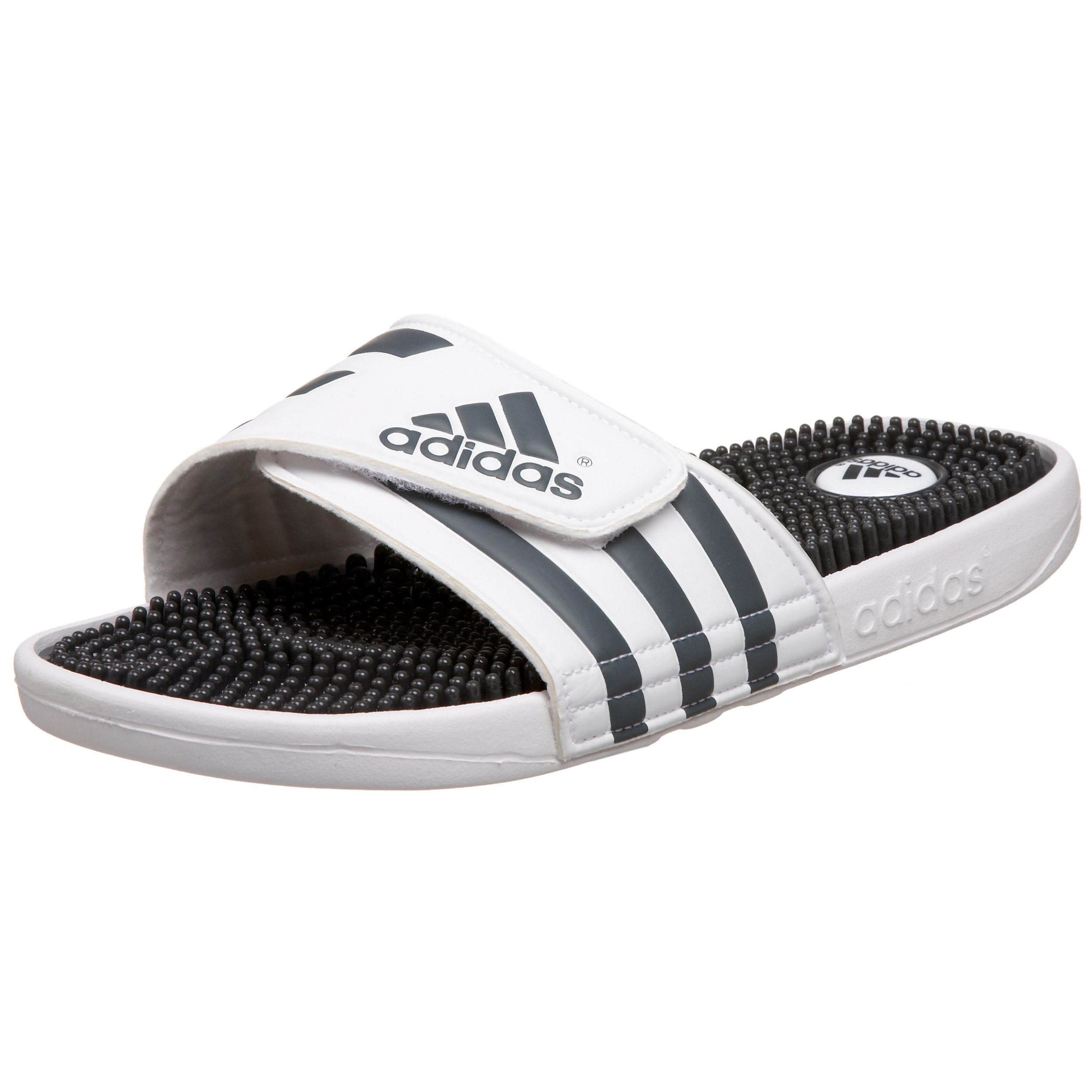 adidas Originals Men's Adissage Sandal,Run White/Graphite/Run White,14 M
